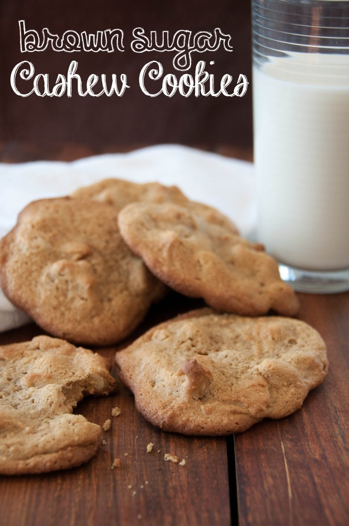 Brown Sugar Cashew Cookies