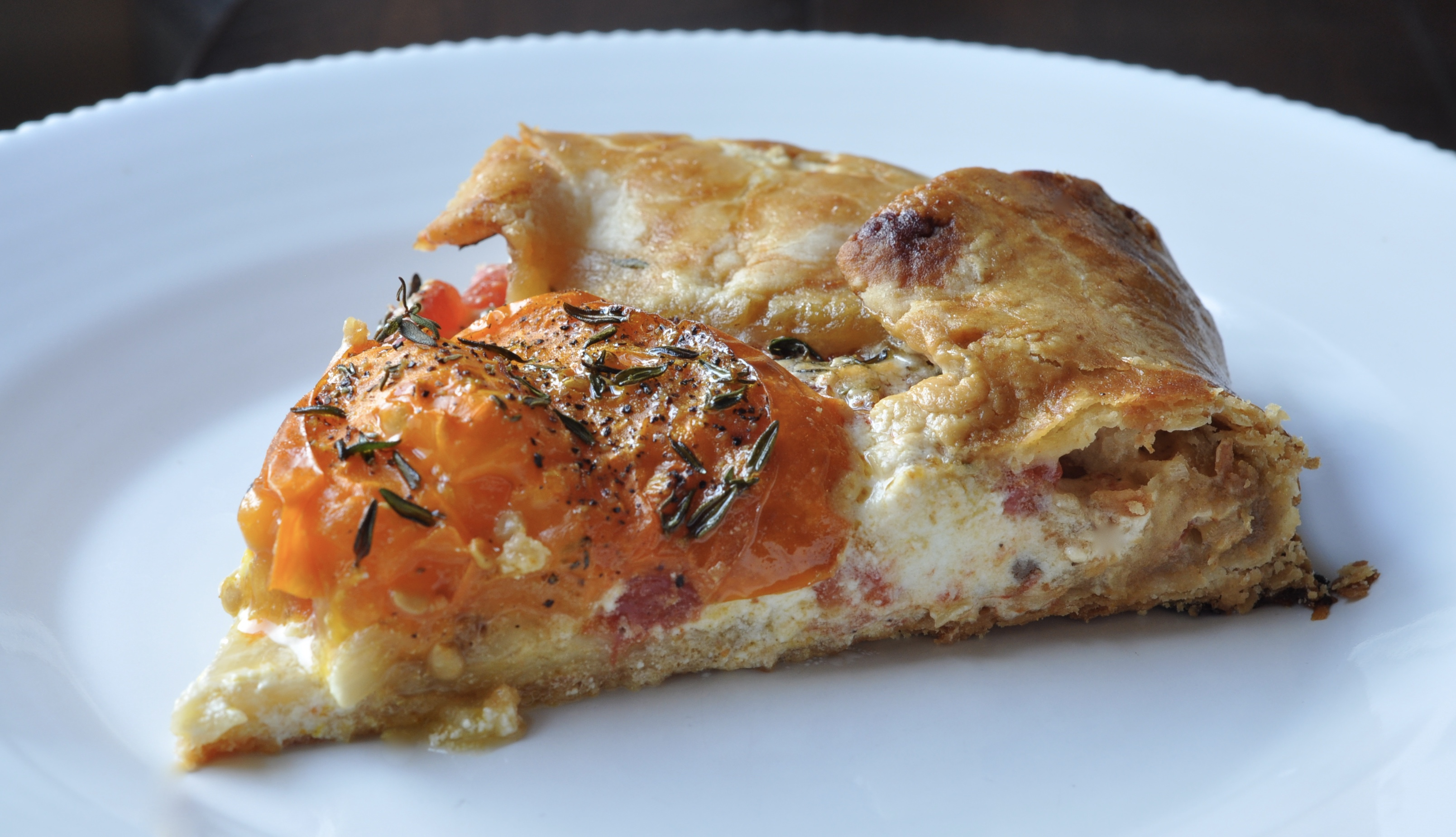 Tomato Galette with Goat Cheese, Honey & Thyme